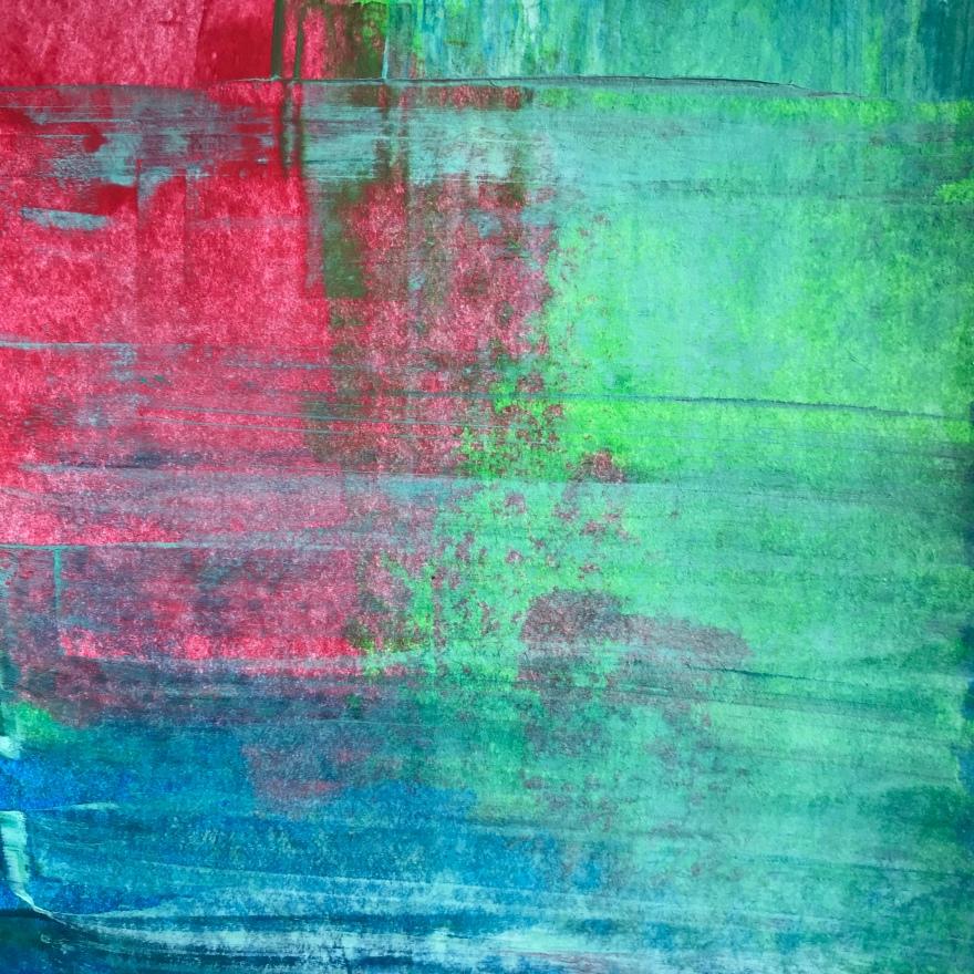 Meadowlands, acrylic, 140 x 140mm
