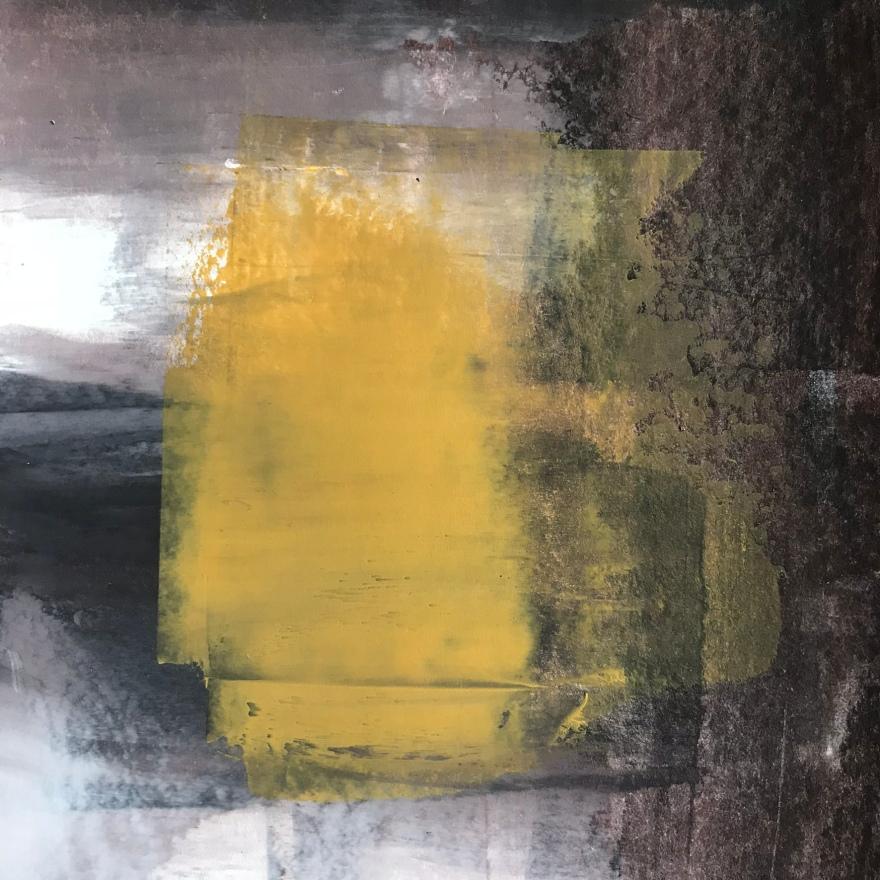 darkness of lightness II, acrylic, 140 x 140mm