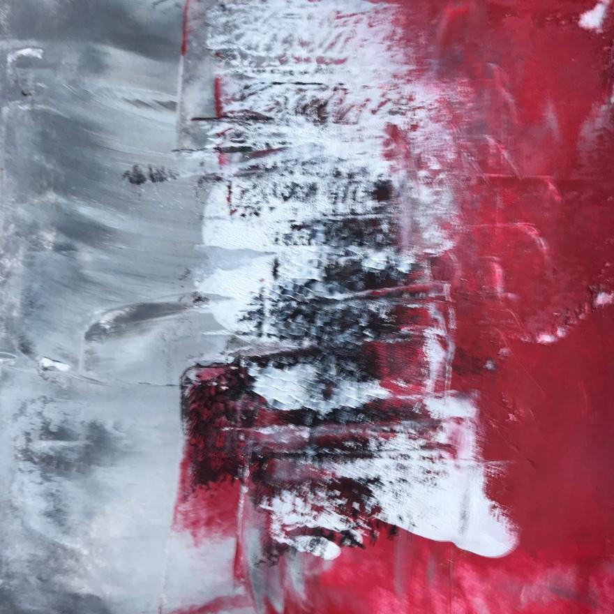Losing Faith, acrylic, 140 x 140mm